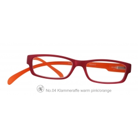 Lesebrille Klammeraffe 04 warm-pink orange