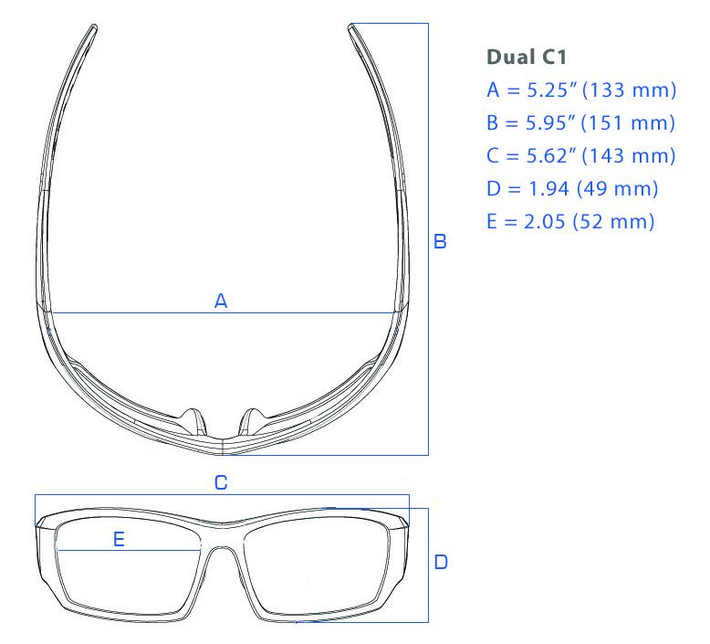 Brillenmaß Sonnenbrille mit Leseteil C1